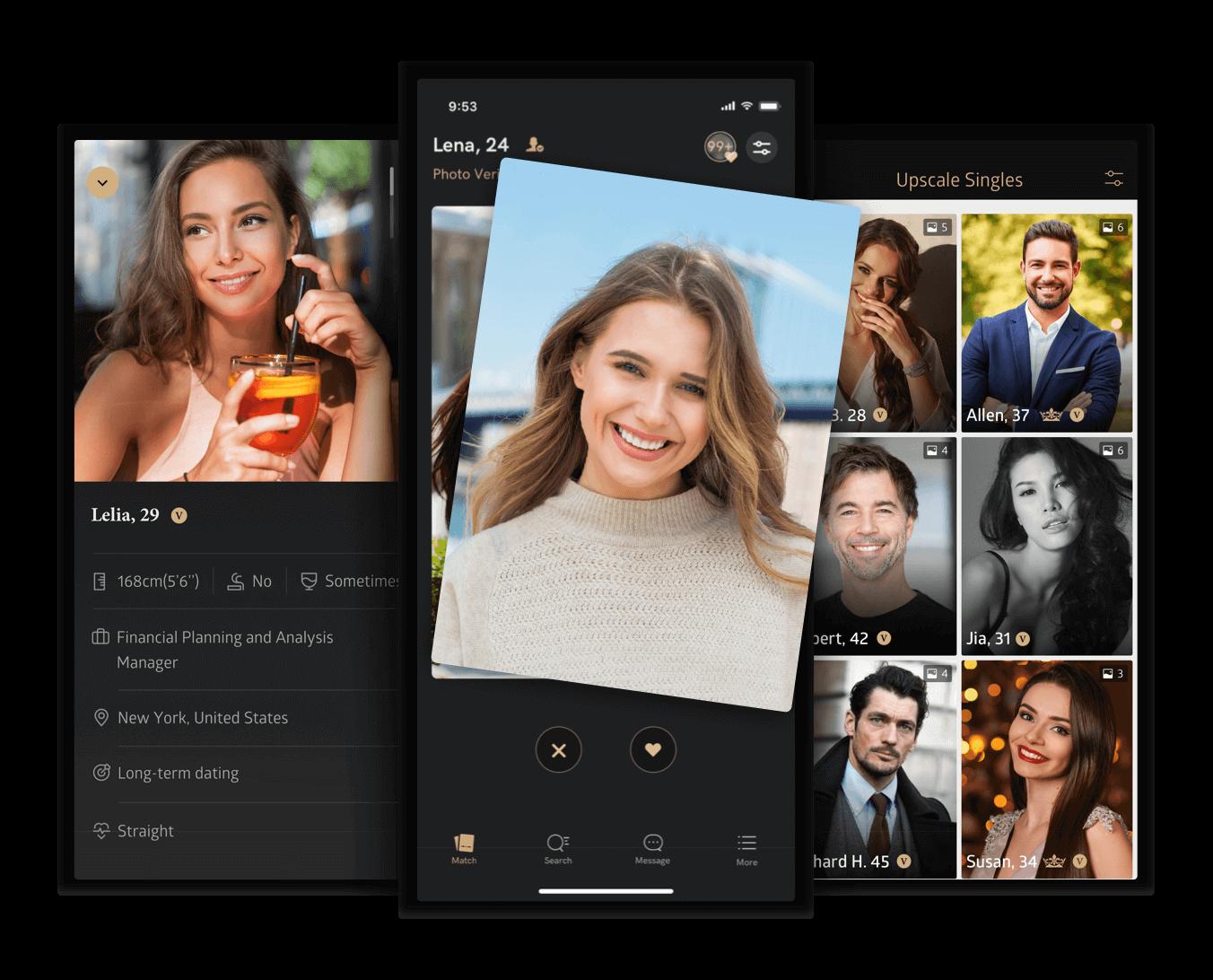 Meet new people on Luxy dating app